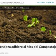 ¡Mendoza adhiere al mes del compostaje!